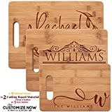 Personalized Walnut & Bamboo Cutting Board, Wedding Gifts for the Couple, Real Estate Closing Gifts