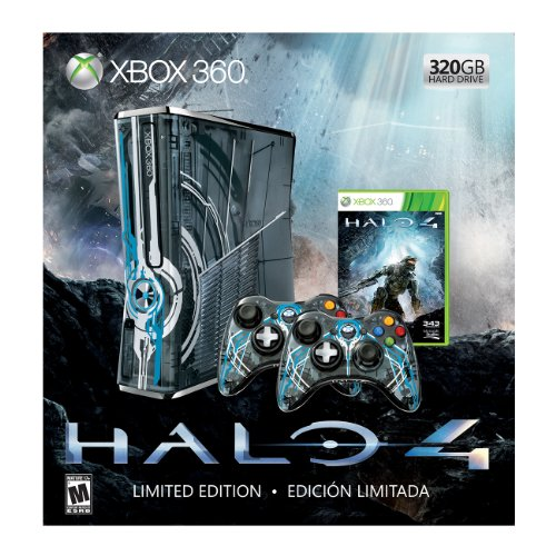 Xbox 360 Limited Edition Halo 4 Bundle (Halo 3 Xbox Console compare prices)