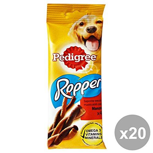 Set 20 PEDIGREE Snack ROPPER Manzo * 4 Pezzi Cibo per cani