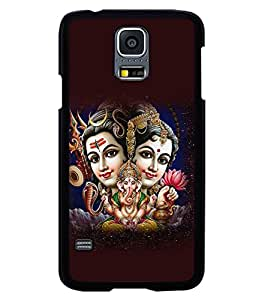 printtech Lord Shiv Parvati Family Back Case Cover for Samsung Galaxy S5 G900i::Samsung Galaxy S5 i9600::Samsung Galaxy S5 G900F