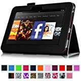 """Fintie Kindle Fire HD 7"""" (2012 Old Model) Slim Fit Leather Case with Auto Sleep/Wake Feature (will only fit Amazon Kindle Fire HD 7, Previous Generation - 2nd), Black"""