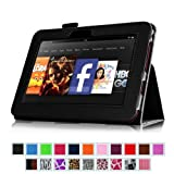 Fintie Slim Fit Leather Case Auto Sleep/Wake for Kindle Fire HD 7-Inch Tablet - 2012 Model - Black