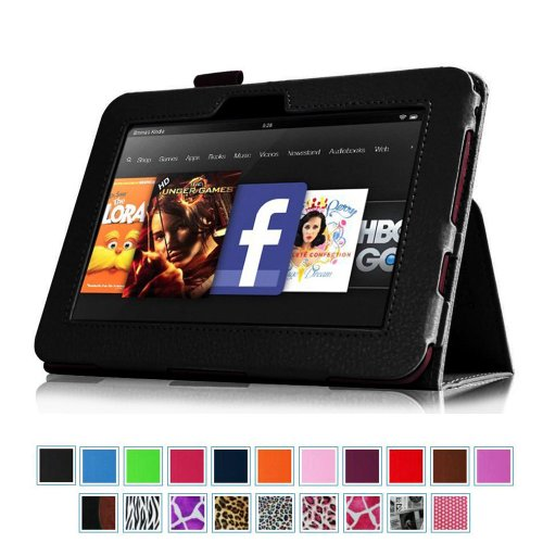 Find Bargain Fintie Slim Fit Leather Case Auto Sleep/Wake for Kindle Fire HD 7-Inch Tablet - 2012 Mo...