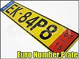 R-2-6 ユーロ ナンバープレート 黄 BMW E87 E86 E30 E36 E46 E90 VOLKSWAGEN ゴルフ 1K 1J 1H アウディAUDI A6 A8 クアトロ ベンツ W220 W221 SLK CLK