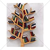 CafePress Tree of knowledge. Bookshelf on whit Throw Blanket - Standard