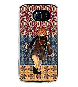 ifasho Dancing girl Back Case Cover for Samsung Galaxy S6 Edge