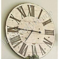 Large 36 Lanier Rustic Wood Wall Clock