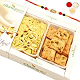 Rakhi Gifts Sweets- Soan Papdi And Methi Mathri Hamper