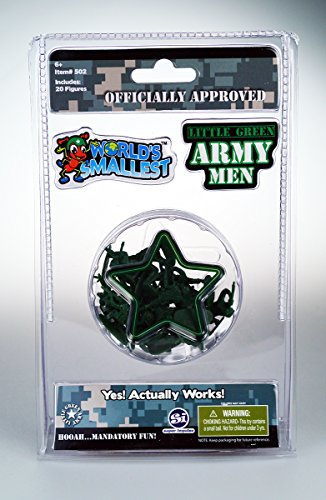 Little Green Army Men- 20 Pocket Sized Soldiers with 10 Different Poses