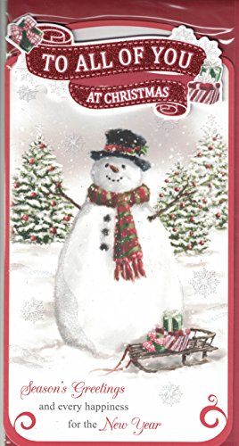 to-all-of-you-christmas-card-to-all-of-you-at-christmas-traditional-snowman-quality-slim-card