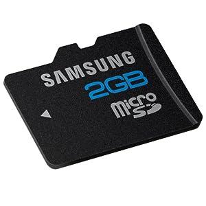 Samsung MB-MS2GA 2 GB microSD Flash Card (Color: Brushed metal)