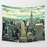 Society6 - New York City Panoramic View Skyline Wall Tapestry by Franckreporter