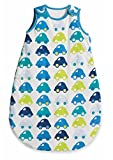 Mothercare Cars Baby Boys Sleeping Bag / Snoozie Blue, Green and White 2.5 Tog 6 - 18 months