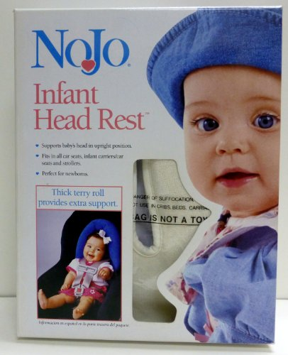 Nojo Infant Head Rest Head Support - White Color - 1