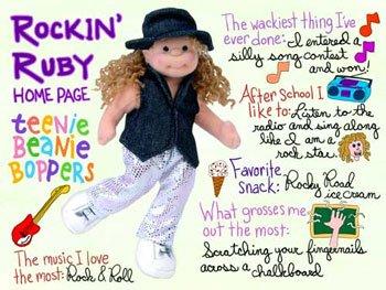 TY Teenie Beanie Bopper - ROCKIN RUBY
