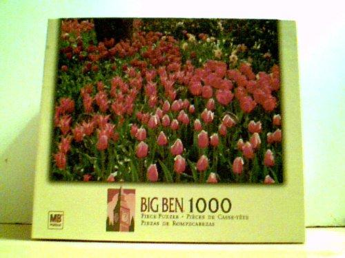 "Spring Tulip Garden - Big Ben 1000 Piece Puzzle 20 1/8"" X 26 3/15"""
