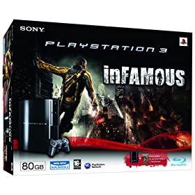 Sony PLAYSTATION 3 80 GB Console with inFamous (PS3)