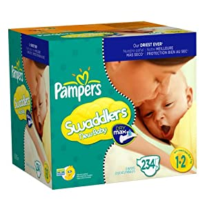 Pampers Swaddlers, Size 1-2, 234-Count