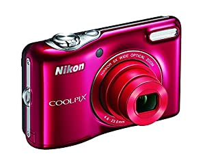 Nikon COOLPIX L32 Digital Camera with 5x Wide-Angle NIKKOR Zoom Lens (Red) (Certified Refurbished)