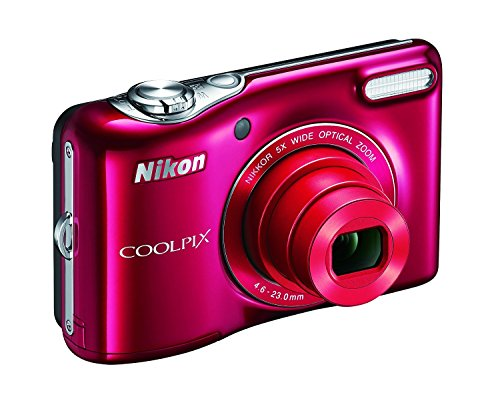 Best Buy! Nikon COOLPIX L32 Digital Camera with 5x Wide-Angle NIKKOR Zoom Lens (Red) (Certified Refu...