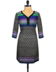 Unnati Silks Women Pracheen Kala Black Cotton Printed Kurta - B00WML56KE
