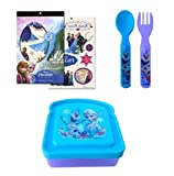 Disney Frozen Bread Sandwich Container Combo with Forks and Temporary Tattoos