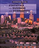 Statistics for Business and Economics (Prentice Hall International Editions) (0139505458) by McClave, James T.