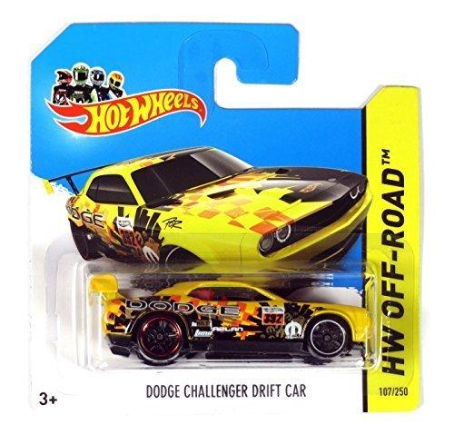 hot-wheels-hw-off-road-dodge-challenger-drift-car-yellow-black-by-hot-wheels