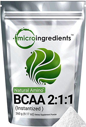 Micro Ingredients Plant-Based Pure BCAA 2:1:1 Powder (Instantized), 260 grams (Organic Bcaa compare prices)