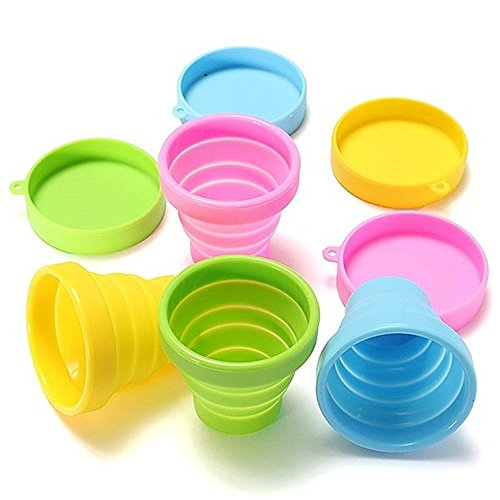 Silicone Candy Color Water Bottles Home Accessories Folding Portable Cup Travel Mug -Pier 27