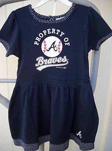 Braves Baby Dress Atlanta Braves Baby Dress Brave Baby