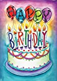 Toland Home Garden  Birthday Wishes 28 x 40-Inch Decorative USA-Produced House Flag