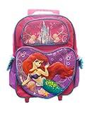 Rolling Backpack - Disney - The Little Mermaid - Ariel (16 Large School Bag )