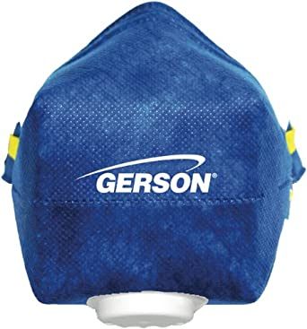 Gerson 082140W N95 Smart-Mask Individually Bagged Particulate Respirator with Exhalation Valve (10 Boxes of 10)