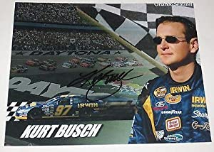 Autographed Kurt Busch Picture - 8x10 Sprint Series Race Car Driver Coa - Autographed... by Sports Memorabilia