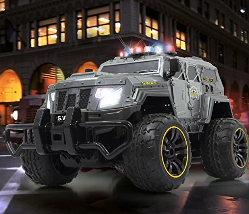 BUSDUGA-2486-RC-Monstertruck-Polizei-SWAT-112-RTR-inkl-13-LED-Lichter-Signallichter-mit-4-Intervallen