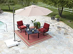 Southern Sales Round Offset Patio Umbrella 10 Polyester Taupe from Southern Sales