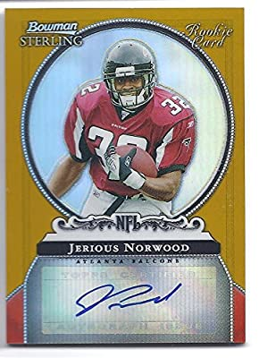 JERIOUS NORWOOD 2006 Bowman Sterling #JN GOLD PARALLEL AUTOGRAPH ROOKIE CARD RC #144 of only 900 Made! Atlanta Falcons Mississippi State Bulldogs Football
