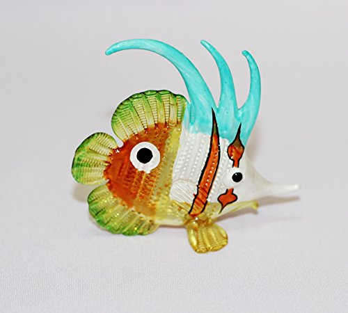 Aquarium Coastal Style MINIATURE HAND BLOWN Art GLASS Fish Orange Blue FIGURINE Collection (Aquarium Fish Chart compare prices)