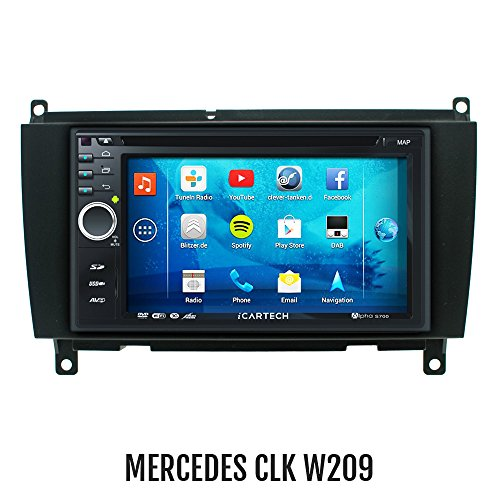 ?Alpha S700 für MERCEDES CLK W209? Das bärenstarke Android Radio mit GPS?Bluetooth?WiFi?Multi-Touch Display?3G?Navigation? Vorbereitung für: TV (DVB-T) & Digitales Radio (DAB+), Dash-Cam (DVR), - Apps-Erweiterung wie z.B. Radar-Warner, Billiger tanken, Spotify u.v.m, inklusive Wifi Mirroring: iPhone 4,5,5 c s Display Spiegelung, Navigationssystem, Autoradio