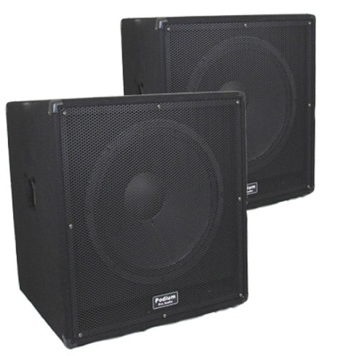 18 Inch Pro Stage Concert Passive Subwoofer Speaker Pair New PPSUB18