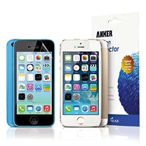 Anker High Definition (HD) Screen Protector for iPhone 5S / iPhone 5C / iPhone 5 [3-Pack] Xtreme Scratch Defender Ultra Clear High-Response Premium with Lifetime Warranty