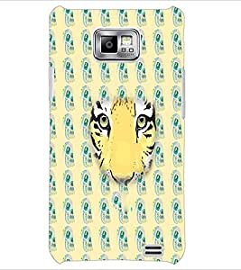 PrintDhaba Tiger Face D-3871 Back Case Cover for SAMSUNG GALAXY S2 (Multi-Coloured)