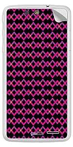 GsmKart PEU Mobile Skin for Panasonic Eluga U (Black, Eluga U-440)
