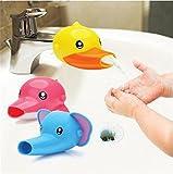 Hangqiao Wasserhahn Anzapfung Extender Waschtischarmatur für Kinder Baby Hande waschen Badezimmer (Gelb Ente)