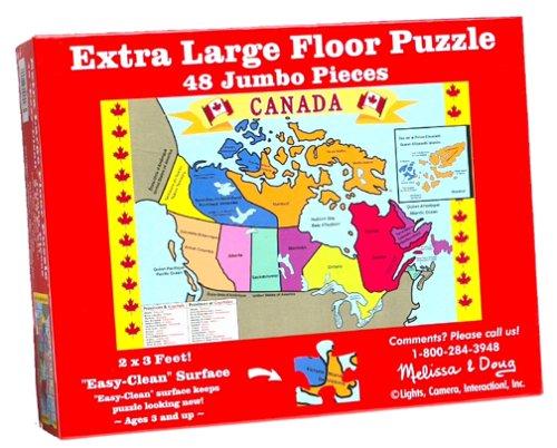 Cheap Fun Melissa & Doug Canada Map Floor (48 pc) (B00004WHP0)