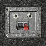 "Podium Pro 1500C PA DJ Karaoke Home Pro Audio 15"" Three Way Black Speaker Pair"