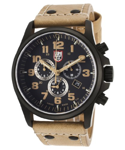 Luminox Atacama Black Dial Brown Leather Mens Watch SU1945