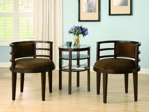 3-Pk Lucca Accent Table/Chair Set By CrownMark Furniture3-Pk Lucca Accent Table/Chair Set By CrownMark Furniture