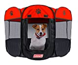 Coleman Water Resistant Pet Playpen, Red